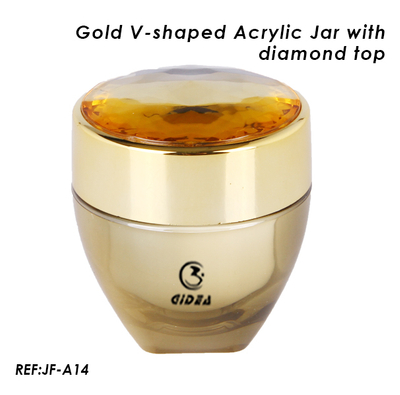V Shaped Diamond Top Acrylic Cosmetic Packaging Jar