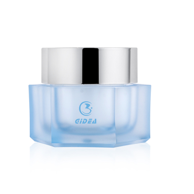 For Cosmetics And Make Up 15g 30g 50g Cream Pot Blue Body Acrylic Cosmetic Jar