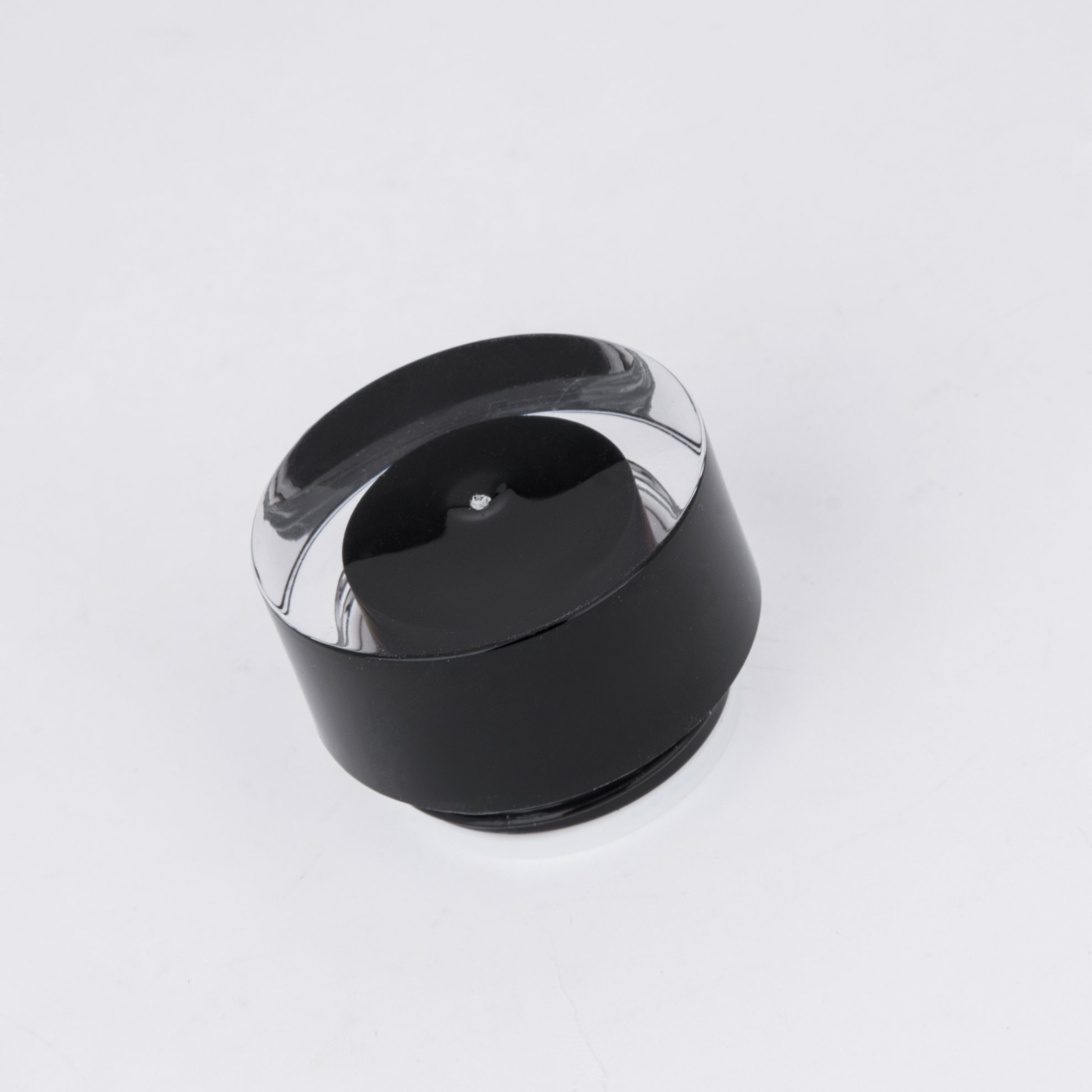 Black Plastic Jars with Dotted Metal Aluminum Screw Lid