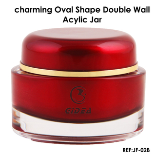 15g 30g 50g Oval Acrylic Cosmetic 2 Oz Jars