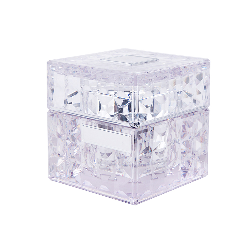50g 80g Square Shape Clear Plastic PETG Cosmetic Packaging Container