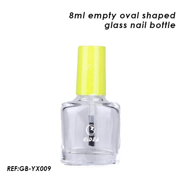 8ml Oval Shaped Empty Nail Polish Glass Bottle