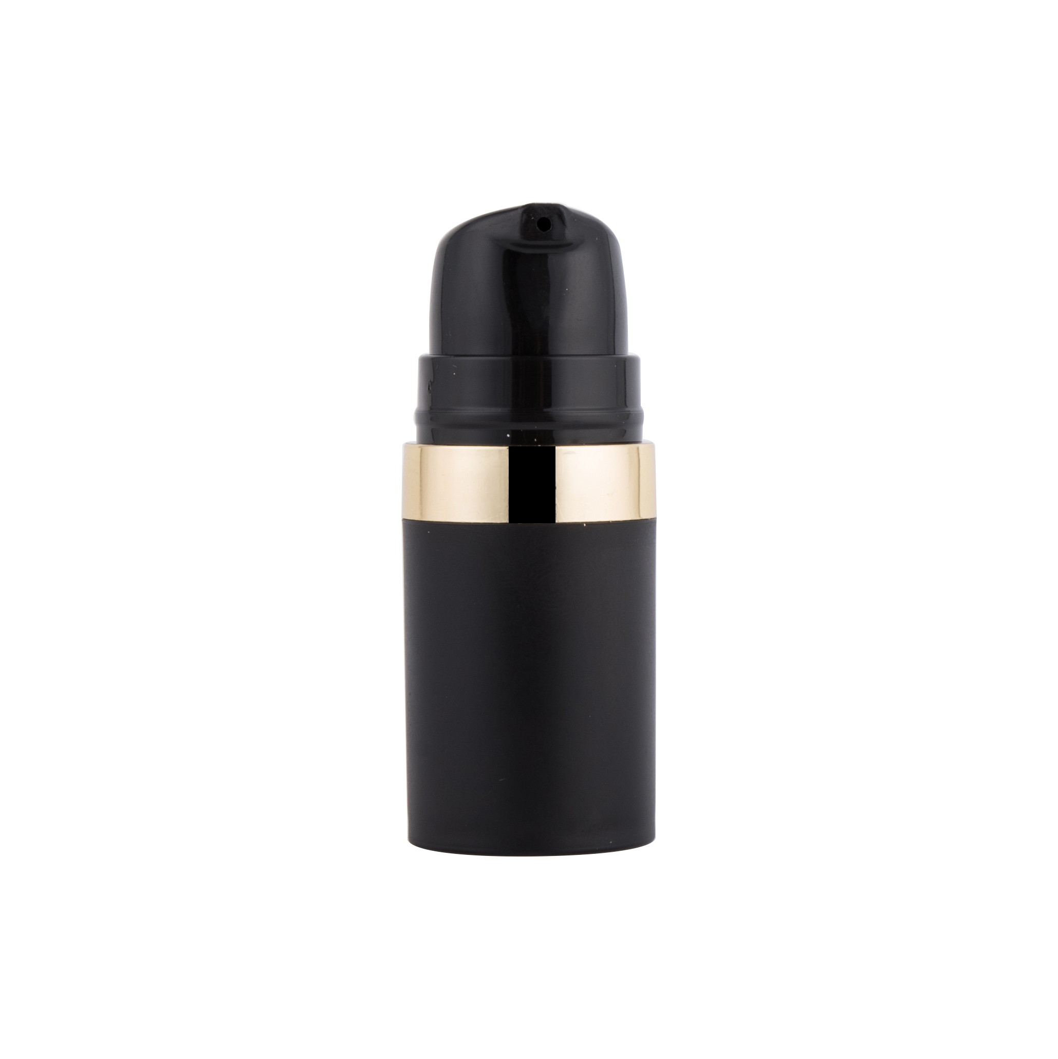 Black Plastic Lotion Cosmetic Bottle