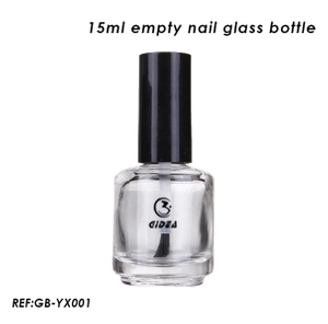 15ml Empty Round Glass Nails Polish Bottle