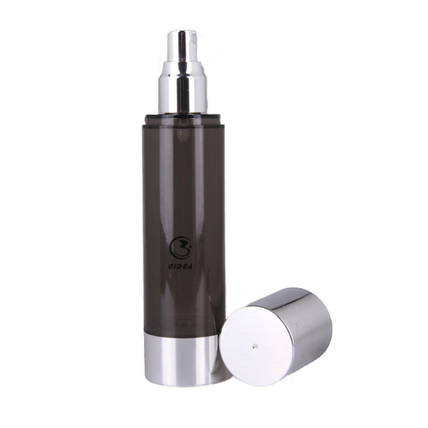 Black Airless Bottle Plastic