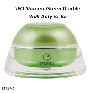 5ML15ML 30ML 50ML Green Luxury Elegant Acrylic Cosmetic Jar