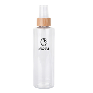 250ml 100ml PET Plastic Spray Pump Bottle With Bamboo Collar