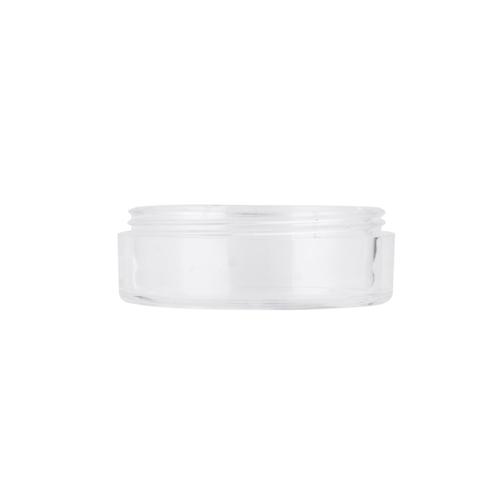 10ml 20ml Clear Round Loose Powder Jar with Sifter
