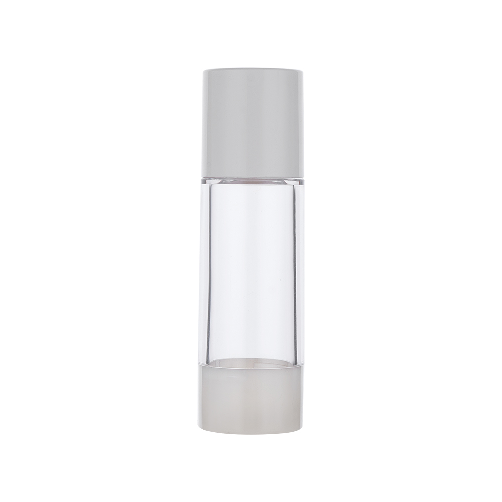 30ml White Cap Clear Body Pressure Spray Lotion Bottle