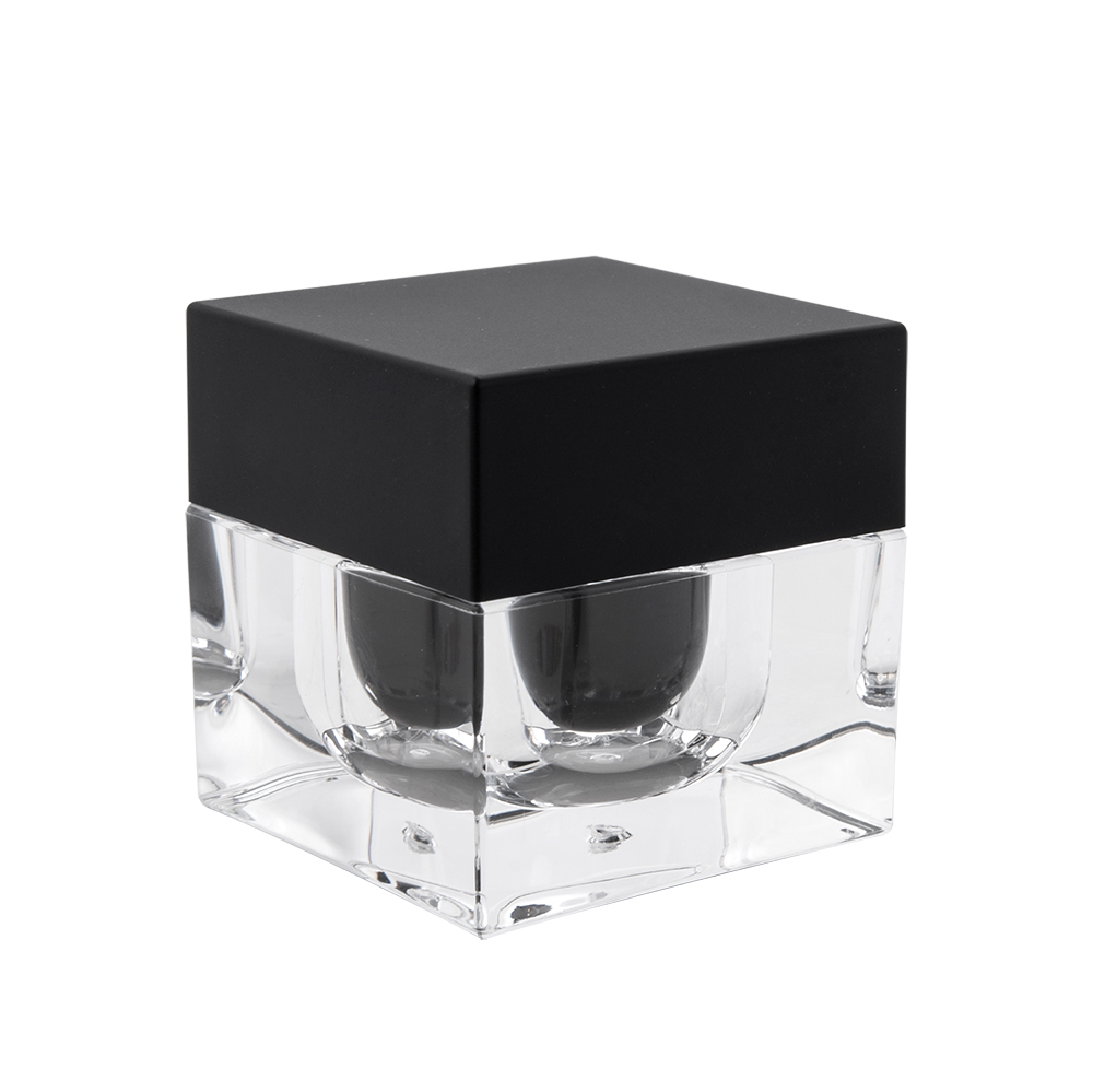 15g 30g Black Cap Custom cosmetic Cream Sample Jar Pots