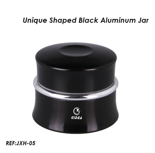 2014 Best Seller- Unique Shaped Black Aluminum Nail Jar