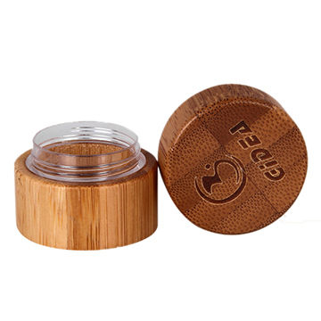 5g Bamboo Cream Jar with Engraved Lid