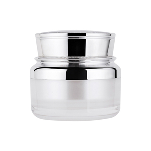 50g Plastic Cosmetic AS Cream Jar with Lid