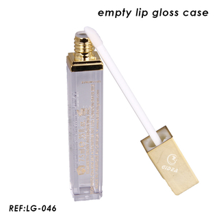 8ml Plastic Empty Square Lip Gloss Case