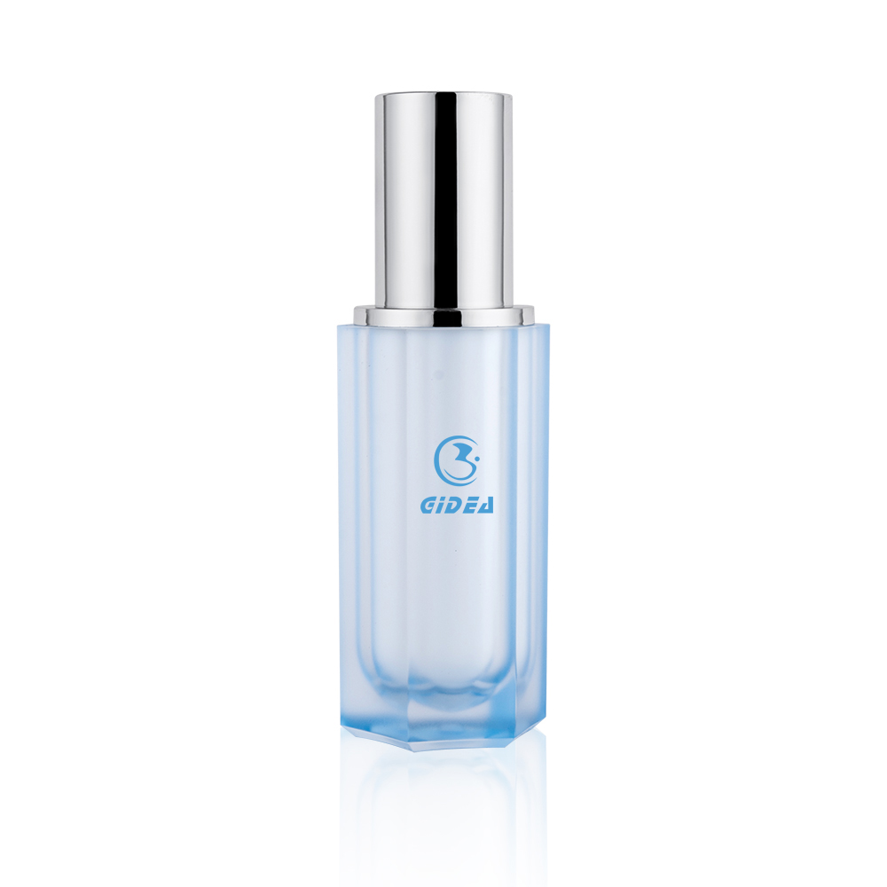 Blue 30ml 50ml cosmetic cream pump lotion bottle
