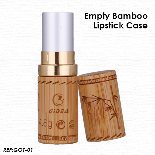 Eco-Friendly Empty Bamboo Lipstick Case