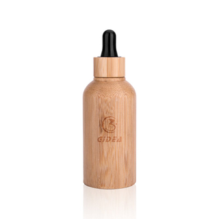 Bamboo Cosmetic Essential Oil Bottle Packaging With Dropper